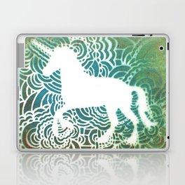 Unicorn Drawing Meditation - Stencil Print #1 Laptop & iPad Skin