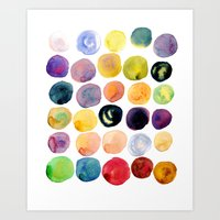 Watercolor Constellation Art Print
