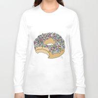doughnut Long Sleeve T-shirts featuring Doughnut by Amber Lily Fryer