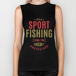 Sport Fishing Thing Biker Tank