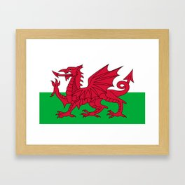 National flag of Wales - Authentic version Framed Art Print