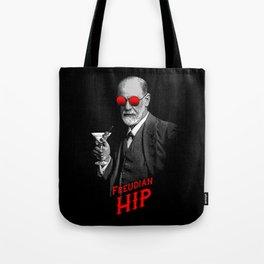 Hipster Psychologist Sigmund Freud Tote Bag