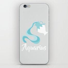 Aquarius Jan 20 - Feb 18 - Air sign - Zodiac symbols iPhone Skin