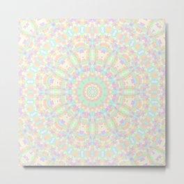 Pastel Rainbow Kaleidoscope 1 Metal Print