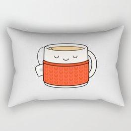 Keep warm, drink tea! Rectangular Pillow