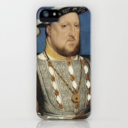 Portrait of Henry VIII of England by Hans Holbein iPhone Case