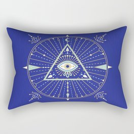 Evil Eye Mandala – Navy Rectangular Pillow