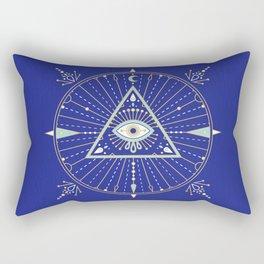 Evil Eye Mandala – Navy Rectangular Pillow