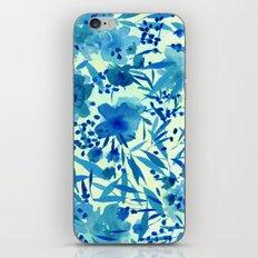 blue pretty flowers  https://society6.com/clemm?promo=X9B3VVZDM7J6 iPhone & iPod Skin