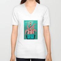 sleep V-neck T-shirts featuring Sleep by Arron Croasdell