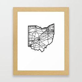 Ohio Love Where You're From Framed Art Print