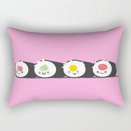 Happy Sushi! - Vector Rectangular Pillow