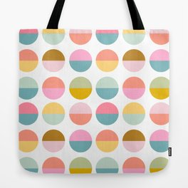 Colorful and Bright Circle Pattern Tote Bag