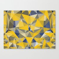 yellow pattern Canvas Prints featuring Yellow by jbjart