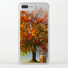 Tardis In The Lake Tree Clear iPhone Case