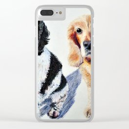 Troy and Lili Clear iPhone Case