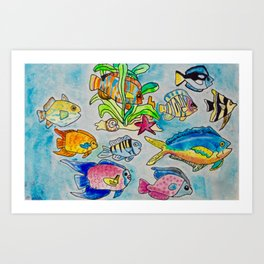 Fish Native to the Bathrooms of Perdido Key Art Print
