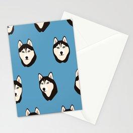 Husky Heads Stationery Cards