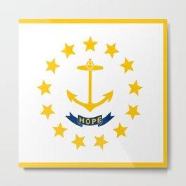 flag,rhode island,america,usa,Ocean State,Little Rhody,Rhode Islander,Providence,Warwick,Cranston Metal Print