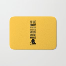 Lab No. 4 - Winston Churchill Inspirational Quotes Poster Bath Mat