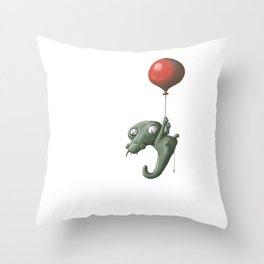 Crocodile in Trouble Throw Pillow