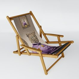 Grand Viceroy Leopold Leopard Sling Chair