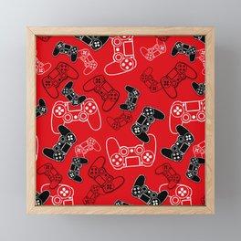 Video Games Red Framed Mini Art Print
