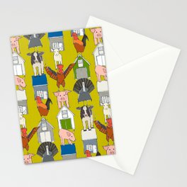 farm pop yellow Stationery Cards
