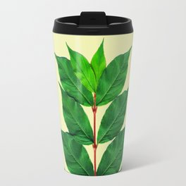 Tree Branch Minimal Leaves Travel Mug
