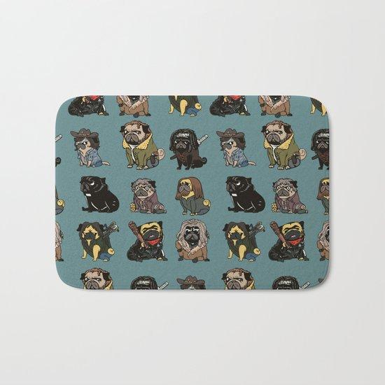 The Walking Pug Bath Mat