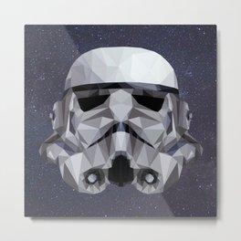 Low Poly Stormtrooper Metal Print