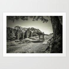 walking in the Alps Art Print