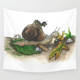 Little Worlds: Snail and Cricket Wall Tapestry