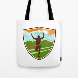 Victorious  Marathon Runner Shield Tote Bag