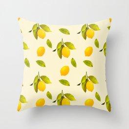 Lemon Pattern Throw Pillow