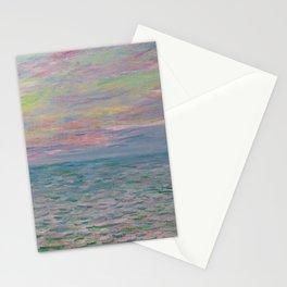 """Claude Monet """"Coucher de soleil à Pourville, pleine mer"""" Stationery Cards"""