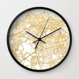 CASABLANCA MOROCCO CITY STREET MAP ART Wall Clock