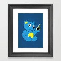 Evil Tattooed Teddy Bear Framed Art Print