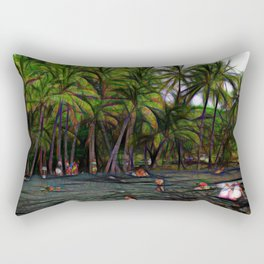 Hawaiian Beach Abstract Rectangular Pillow
