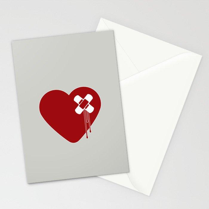 Heart Broken Stationery Cards