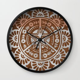 Retro Mandala Wall Clock