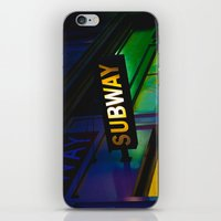 subway iPhone & iPod Skins featuring Subway by Mark Spence