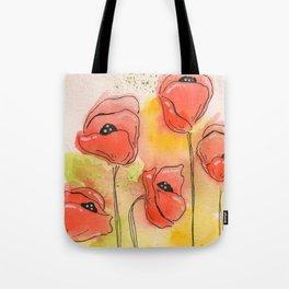 Coral Florals Tote Bag