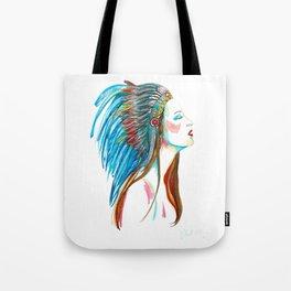 Native American Fashion Girl, colourful artwork Tote Bag