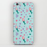 mermaids iPhone & iPod Skins featuring Mermaids by S. Vaeth