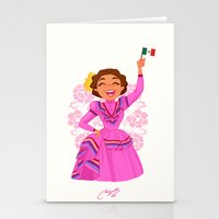 mexico Stationery Cards featuring Mexico  by Melissa Ballesteros Parada