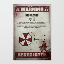 Biohazard Canvas Print
