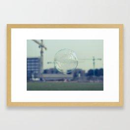 city bubble Framed Art Print