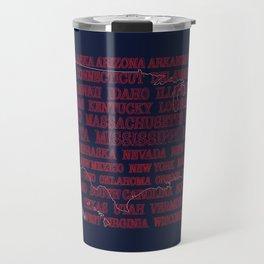 50 States United States of America Travel Mug