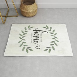 Take Me Home Country Roads Farmhouse Art Rug